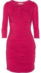 Halston Heritage Women's Knot Front Ruched Dress - Raspberry - Size: 8