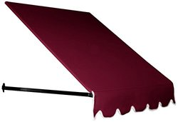 "Awntech 24"" x 42"" 5-Feet Dallas Retro Window/Entry Awning - Burgundy"