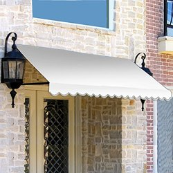 "Awntech? 10' Dallas Retro? Window/Entry Awning, 24"" x 42"", Natural White"