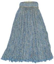 Natural & Synthetic Fibers Screwflat Cut End Mop Head - 12-Pack - Blue