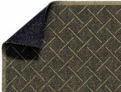 "Enviro 12' L x 3' W x 1/4""T Diamond Weave Interior Wiper Floor Mat - Khaki"