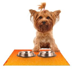 """Kess InHouse 24""""x15"""" Frederic Levy-Hadida """"Bubbling Red"""" Pet Feeding Mat"""