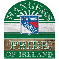 "Wincraft 10"" x 11"" New York Rangers Pride of Ireland Wood Sign"