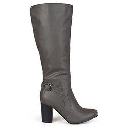 Brinley Co Women's Jimmi Engineer Boot - Grey - Size: 9 M