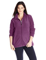 White Sierra Women's Plus Size Mountain Jacket - Deep Purple - Size: 2X