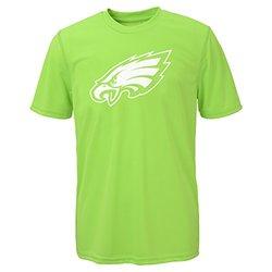 NFL Boys Philadelphia Eagles Performance Tee - Neon Green - Size: Medium