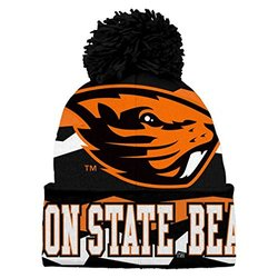 NCAA Boys Juniors 8-20 Oregon State Beavers Cuffed Knit with Pom Hat
