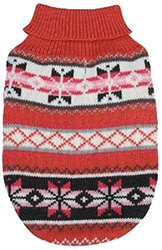 Zack & Zoey XX-Small Pink Chalet Pet Sweater