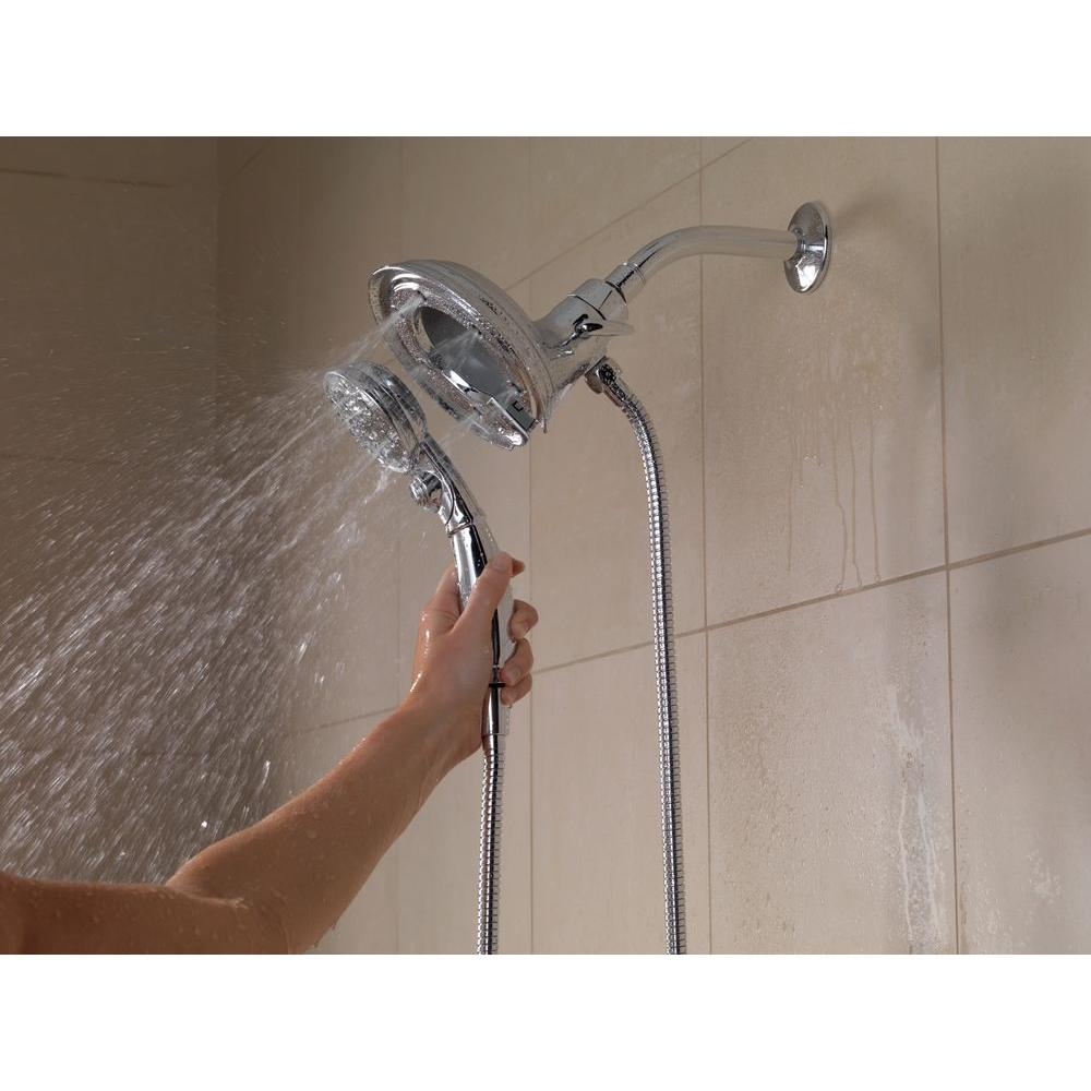 Delta In2ition 4 Spray Hand Shower And Shower Head Combo Kit