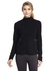 Ibex Outdoor Clothing Women's Izzi FZ Sweater, Black, X-Large