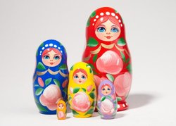 Rainbow Russian Nesting Doll c./4 5