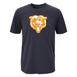 NFL Chicago Bears Boys Performance Tee - Charcoal - Size:  X-Large