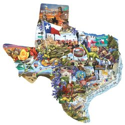 Welcome to Texas! Piece Shaped Jigsaw Puzzle by SunsOut 1000