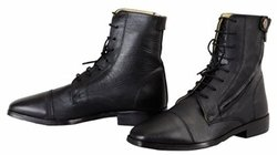 TuffRider Women's Wellesley Lace Up Paddock Boots, Black, 10