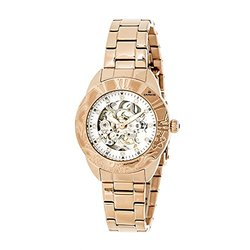 Empress Godiva Ladies Watch: EM1103 Rose Band-Silver Dial