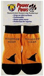 Power Paws 02-02 X-Small Traction Dog Socks - Halloween Hat