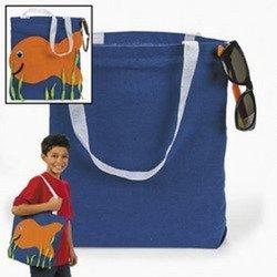 Fun Express 12 Canvas Flip Flop Tote Bags