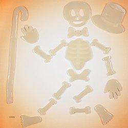 GelGems Glow-in-the-Dark Dancing Bones Window Clings