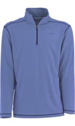 White Sierra Men's Techno Long-Sleeve 1/4 Zip Tee - Blue Indigo - X-Large