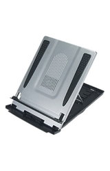 Aidata Adjustable Sturdy Laptop Riser With Cooling Fan Via Ergoguys