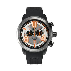 NXS Men's Pastrana Swiss Ronda Textured Silicone Watch - Black