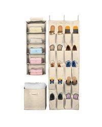 Sorbus Closet & Drawer Organizers Set - Beige
