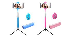 Mental Beats 4-in-1 Selfie Stick Combo Kit - Blue