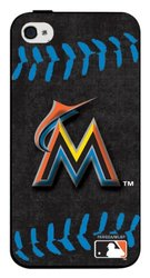 Pangea iPhone 4 & 4S Hard Cover Case Blue Stitch - Miami Marlins