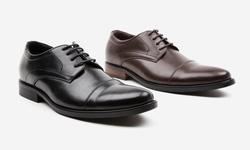 Oak & Rush Men's Randy Cap Toe Oxford Shoes - Brown - Size: 10.5
