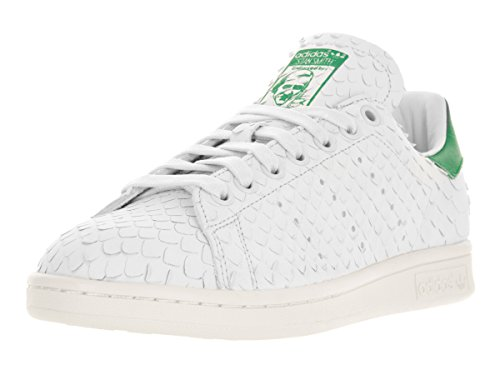 Urkoppling sammet Ruin  Adidas Stan Smith Snake-Embossed Lace Up Sneakers - White/Green ...