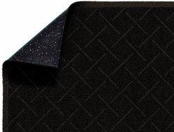 "Andersen 2202 Enviro Plus PET Polyester Fiber Diamond Weave Interior/Wiper Floor Mat, Crumb Rubber Backing, 12' Length x 4' Width, 1/4"" Thick, Chestnut Brown"