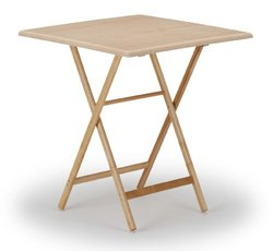 Telescope Casual 36-Inch Square Wood Accessory Table, Adjustable Height, 34.5-Inch and 40-Inch, Varnish Base and Top