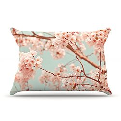 "Kess InHouse Iris Lehnhardt ""Blossoms All Over"" Flowers King Pillow Case, 36 by 20-Inch"