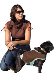 Kurgo Portsmouth Rain Coat For Dogs - Small BROWN/BLUE/WHITE