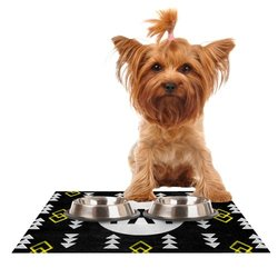 "Kess InHouse Skye Zambrana ""Yay"" Feeding Mat for Pet Bowl, 24 by 15-Inch"