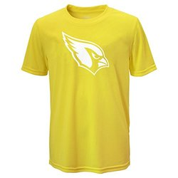 NFL Arizona Cardinals Boys Performance Tee - Yellow - Size: Large