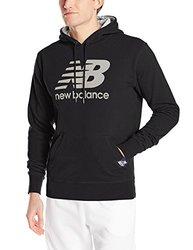 New Balance Men's Essentials Plus Pullover Hoodie - Black - Medium