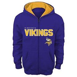 "NFL Minnesota Vikings 4-7 ""Stated"" Full Zip Hoodie, Medium, Regal Purple"