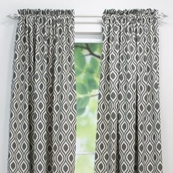 Brite Ideas Living & Company Nichole Lakin 54 by 84-Inch Rod Pocket Curtain Panel for 1.5 to 2-Inch Rod, Grey