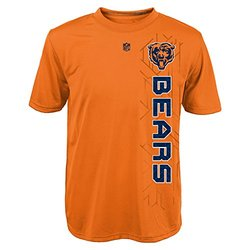 NFL Youth Boys Chicago Bears T-Shirt - Orange - Size: M (10-12)