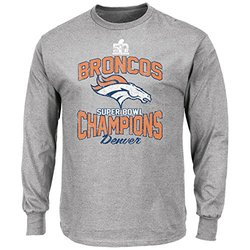 NFL Denver Broncos Men's Super Bowl 50 Fleece Hoodie - Steel - Size: Small
