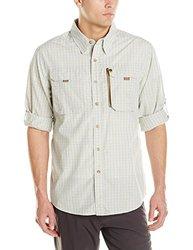 Buffalo Jackson Trading Co Men's Riverdale Fishing Shirt, Green Plaid, Small