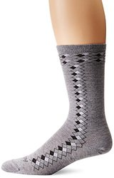 Ausangate Alpacor Mid-Calf Argyle Socks - Gray/black - Men Medium