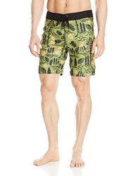 Hippy Tree Paradise Board Short - Men's Army
