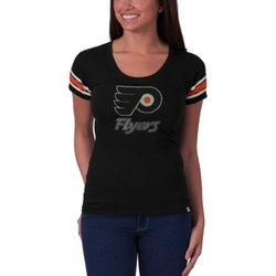 NHL Philadelphia Flyers Women's Off Campus Scoop Tee - Black - Size: M