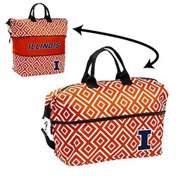 NCAA Double Diamond Expandable Tote: Illinois