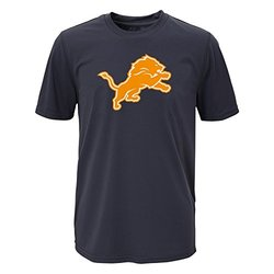 NFL Detroit Lions Boys Performance Tee - Charcoal - Size: X-Large