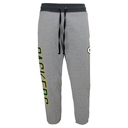 NFL Juniors 0-17 Green Bay Packers Rolled Up Sweat Pant, Heather Grey, Medium (7/9)