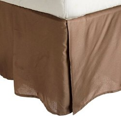 3000 Series 100  Brushed Microfiber Solid King Bedskirt  Taupe