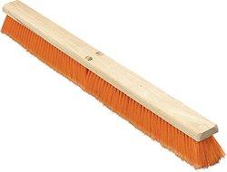 """Carlisle 36223624 Flo-Pac Medium Floor Sweep, 36""""-Long Hardwood Block, 3"""" Long Orange Polypropylene Bristles (Case of 6)"""